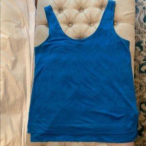 Blue Linen Tank